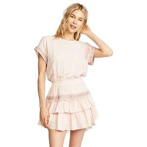 MISA Olivia Gauze Pink Mini Dress - Medium